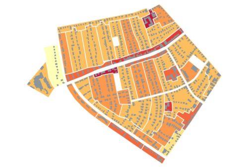 Stadt Nordhorn Wärmedichtekarte Blumensiedlung
